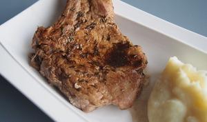 Côtes de porc balsamique et thym