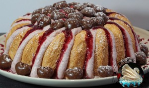 Gâteau nuage aux cerises