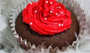 Cupcakes of love coeur griotte nutella