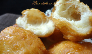 beignets légers à la vanille