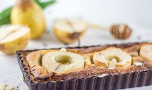 Tarte aux poires chocolat et crème d'amande façon frangipane