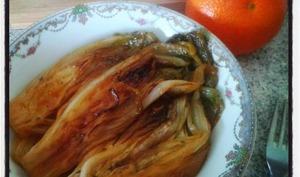 Endives braisées au jus de clémenvilla et thym frais