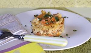 Crumble de carottes confites au parmesan