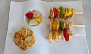 Poffertjes aux fruits et sirop d'érable