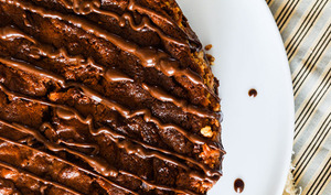 Cheesecake-brownie chocolat et vanille