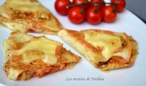 Quesadillas au Maroilles, tomates et moutarde à l'ancienne