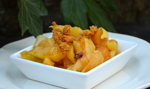 Pommes rôties au miel