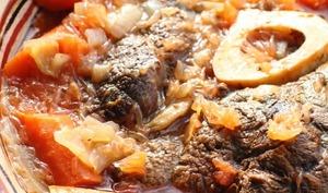 Jarret de boeuf au pamplemousse, gin et carottes