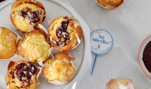 Muffin pomme amande confiture & Limonade fraise framboise