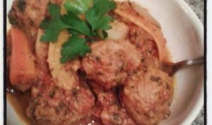 Tajine de boulettes de poisson à la chermoula