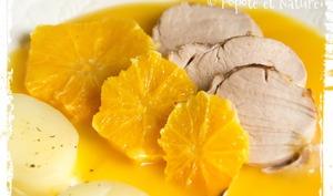 Filet de mignon de porc aux oranges