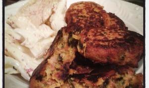 Croquettes de patates douces roties au four à la coriandre