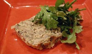 Pâté aux champignons et noisettes, terrine végétarienne ou vegan