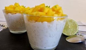 Riz au lait de coco mangue et citron vert