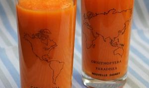 Smoothie carotte-orange-gingembre