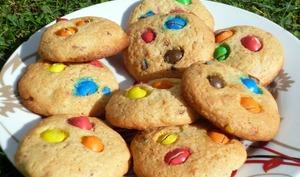 Cookies au m&m's