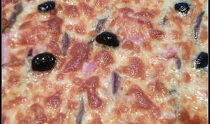 Pizza jambon anchois