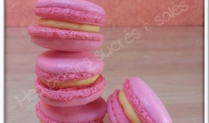 Macarons girly aux fruits de la passion