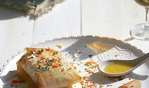 Papillote croquante de cabillaud, beurre citron gingembre