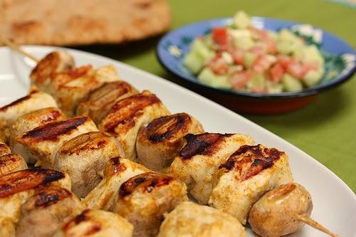 Favori Brochettes de poulet marinées, épicées aux gingembre, massala  CI61