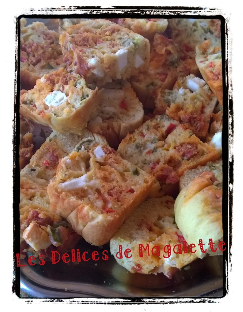 Cake Chorizo Feta Olives