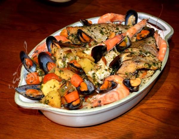 Recettes de fruits de mer par la tunisienne couscous - Cuisine tunisienne poisson ...