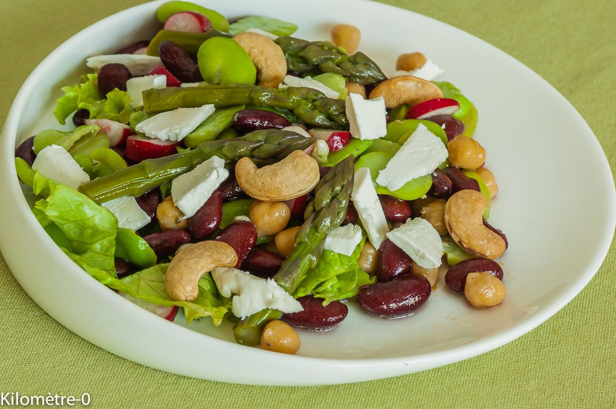 salade aux haricots rouges pois chiches et noix de cajou par kilometre 0. Black Bedroom Furniture Sets. Home Design Ideas