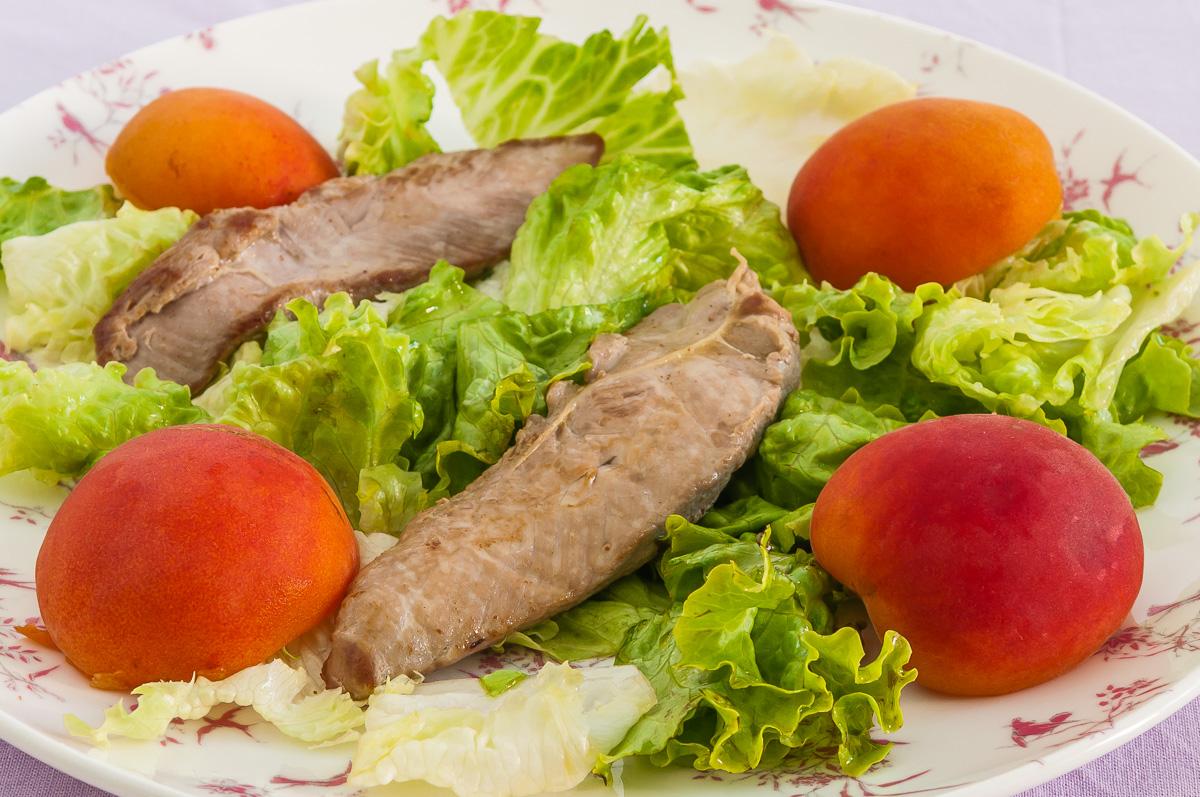 Filets de canard et abricots en salade par kilometre 0 - Cuisiner un filet de canard ...