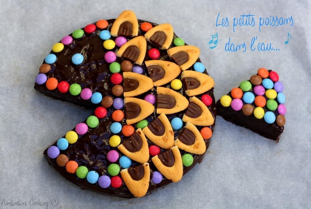 Gateau D Anniversaire Poisson Au Chocolat Facile Recette Par Amandine Cooking