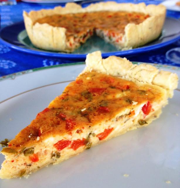 la tarte au fromage frais de brebis et aux poivrons rouges par sweet kwisine. Black Bedroom Furniture Sets. Home Design Ideas