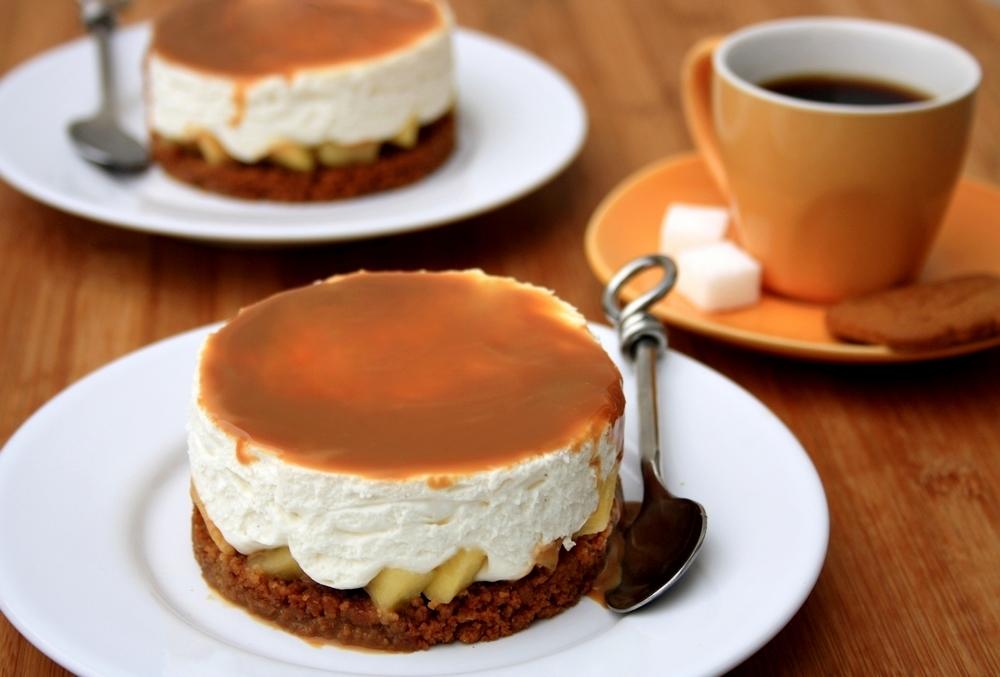cheesecake sans cuisson aux sp culoos pommes et confiture de lait par amandine cooking. Black Bedroom Furniture Sets. Home Design Ideas