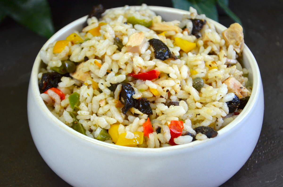salade de riz la m ridionale une recette de pique nique. Black Bedroom Furniture Sets. Home Design Ideas