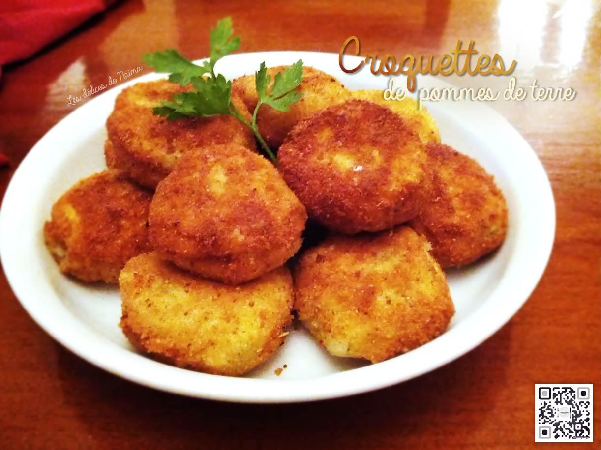 croquettes de pommes de terre farcies la mozzarella par les d lices de na ma. Black Bedroom Furniture Sets. Home Design Ideas