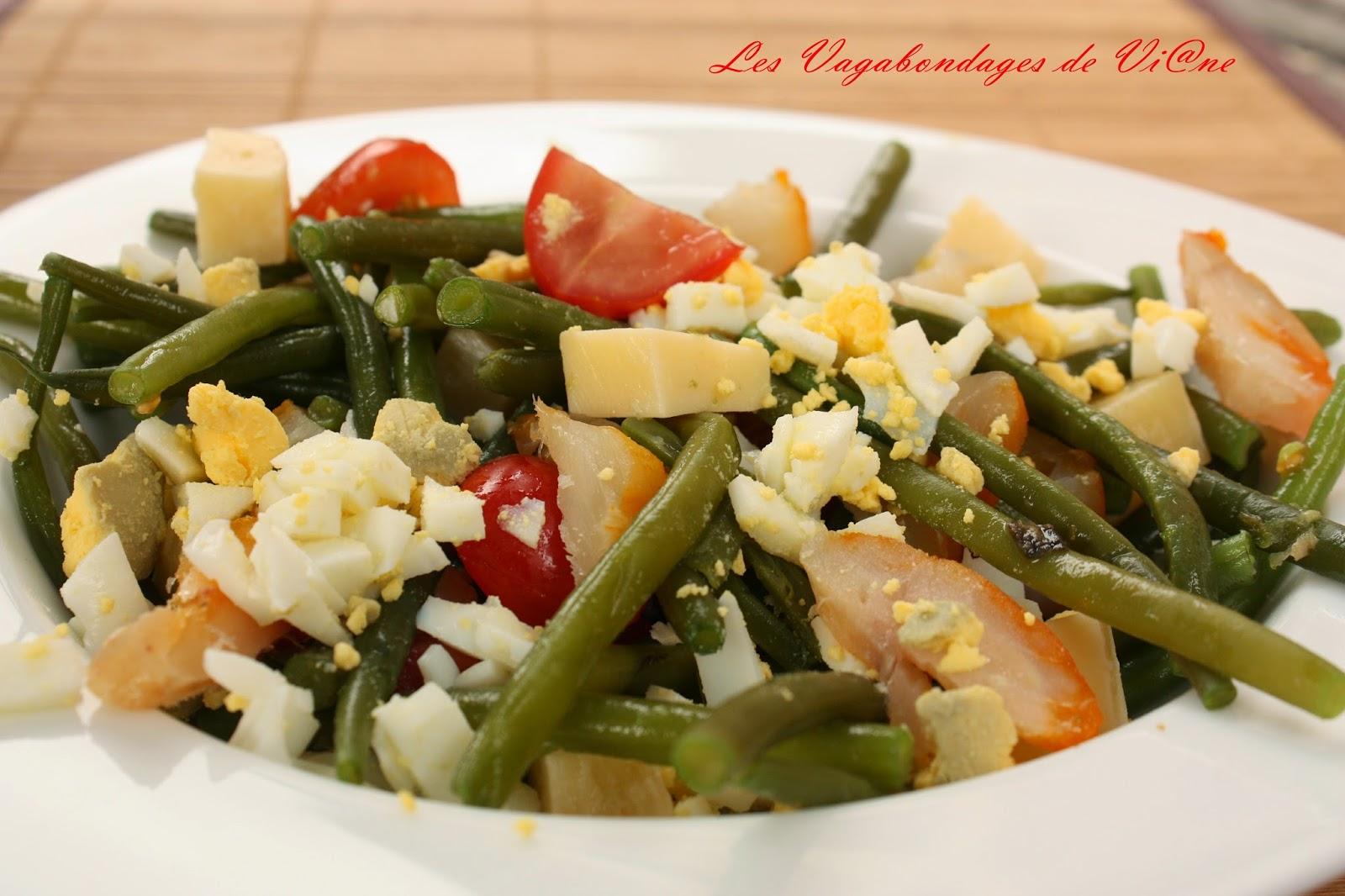 Salade de haricots verts et haddock par les vagabondages - Cuisiner haricots verts surgeles ...