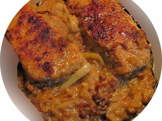 Côtes de porc aux pommes et au cidre
