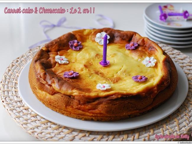 Carrot cake + Cheesecake: 2 en 1