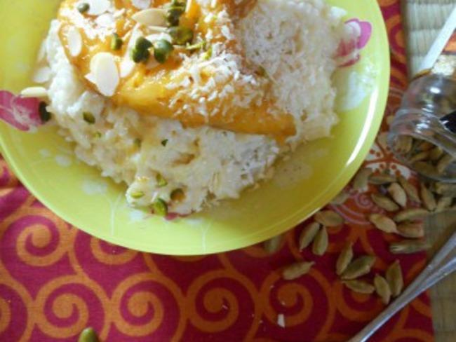 Khir et mangues caramélisées