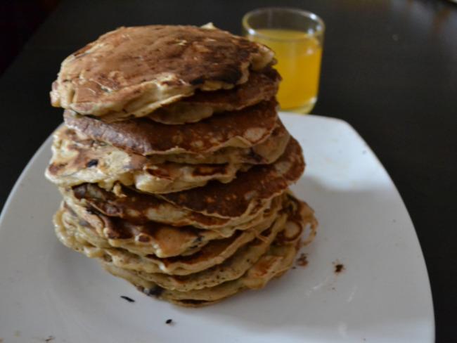Les pancakes banane-chocolat de Walter