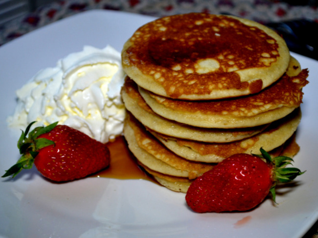 Les pancakes chantilly de Damon