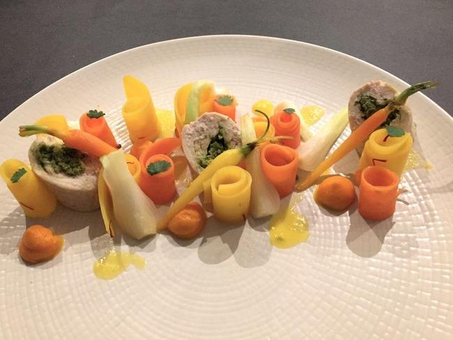 Tajine de poulet aux carottes, citron confit et olives revisité