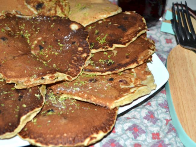 Les pancakes citron myrtilles de Blaine