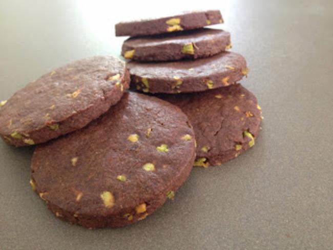 Sablés chocolat-pistache