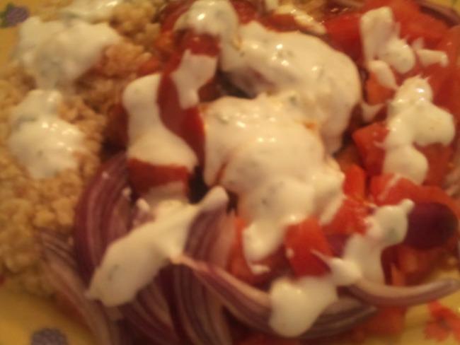 kebab kofte, sauce blanche à la poêle, plancha ou barbecue