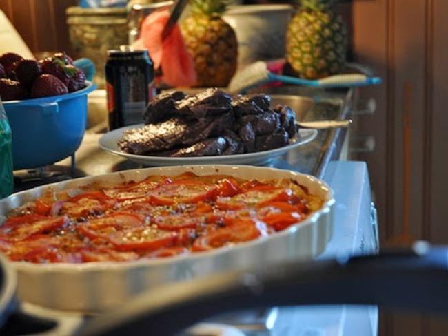 Tartelettes aux tomates, crème et parmesan