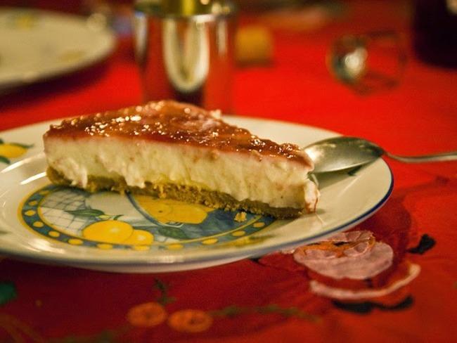 Cheesecake au fromage blanc et grains de grenades