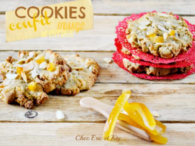 Cookies amandes au citron et orange confits