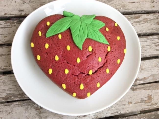 Gâteau fraise à la confiture