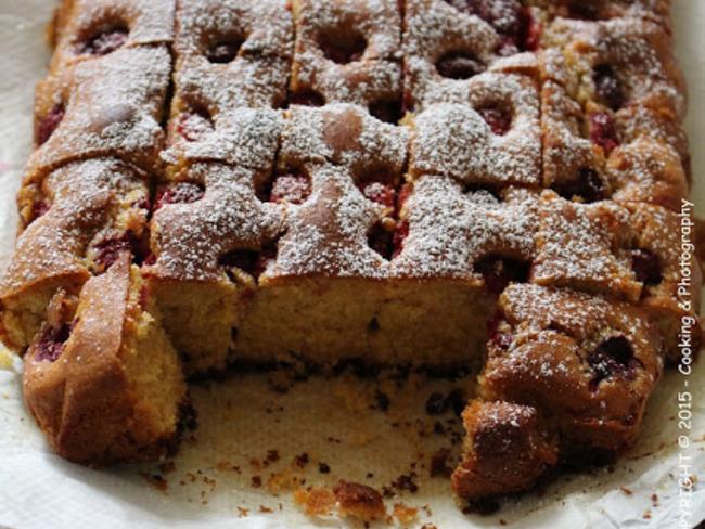 Gâteau aux framboises & Miel d'Aloe Vera