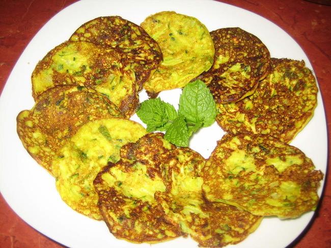 pancakes de courgette coco et curry