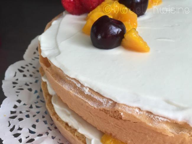Le gâteau nuage à la mangue de Clara